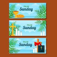 Palm Sunday Banner Design vector