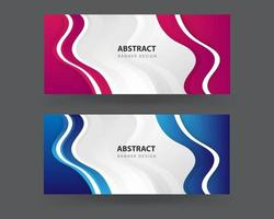 Abstract blue wavy business style background vector