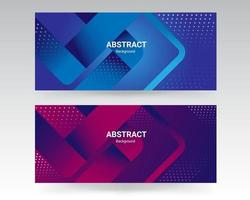Abstract gray banner with blue halftone design vector
