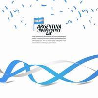 Happy Argentina Independence Day Celebration, Poster, Ribbon banner vector template design illustration