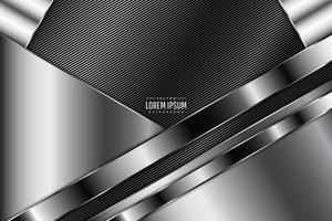 Luxury of gray metallic background dark space with line texture. vector