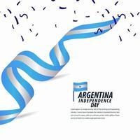 feliz celebración del día de la independencia argentina vector
