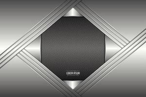 Luxury of gray metallic background polygonal shape dark space with line texture. vector