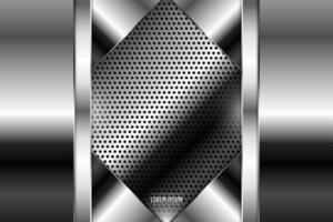 Luxury of black and gray metallic background dark space with perforated texture. vector