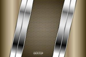 Luxury of gold metallic background dark space with perforated texture. vector
