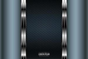 Luxury of blue metallic background dark space with perforated texture. vector