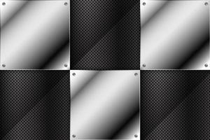 Fondo de metal con textura de fibra de carbono. vector