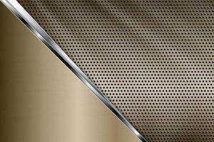 Gold metallic with perforated texture. vector