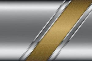 Metallic of gray with gold texture. vector