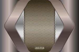 Metal background of gray and silver with perforated. vector