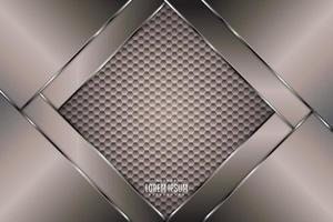 Brown and silver metallic background. vector