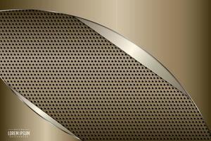 Gold and silver metallic with perforated texture. vector