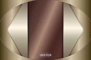 elegante fondo metálico de oro. vector