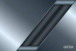 Blue metallic technology background. vector