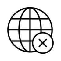 Remove Globe Icon vector