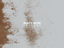 Rusty iron texture. Rust and dirt overlay black and white texture. vector