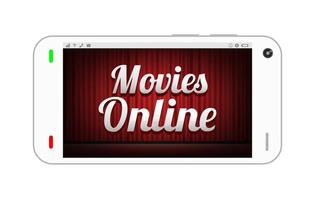 smartphone with movies online on screen vector