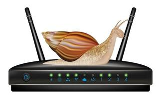 slow speed router with snail vector