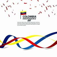 Colombia Independence Day Celebration Vector Template Design Illustration