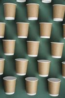 Arrangement of eco friendly disposable cups photo