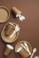Arrangement of eco friendly utensils photo