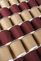 Composition of different eco friendly paper cups photo