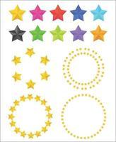 conjunto de vectores de estrellas