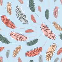 plumas de aves de patrones sin fisuras. patrón con plumas. vector ilustración plana