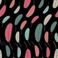 plumas de aves de patrones sin fisuras. patrón con plumas. vector ilustración plana. diseño para textiles, empaques, envoltorios, tarjetas de felicitación, papel, imprenta.