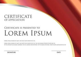 simple certificate template with metallic gradient vector
