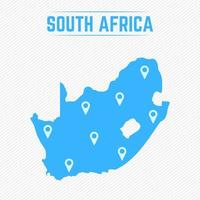 South Africa Simple Map With Map Icons vector