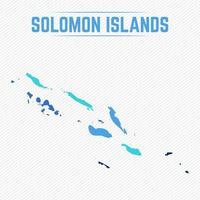 Solomon Islands Detailed Map With Regions vector