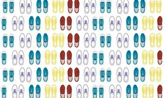 Abstract Shoes Pattern Flat Design vector