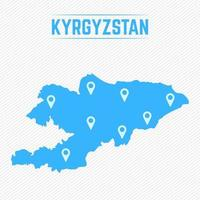 Kyrgyzstan Simple Map With Map Icons vector
