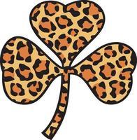 trébol con estampado de leopardo vector