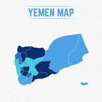Yemen Detailed Map With Regions vector