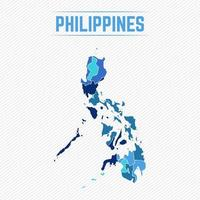 Philippines Detailed Map With Regions vector