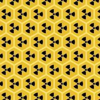 panal con patrón de vector de miel amarilla radiactiva - ilustración de un problema ambiental