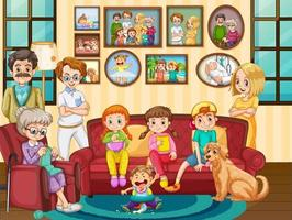 Big family member at the house vector