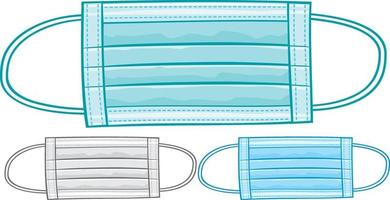 Medical or surgical mask vector