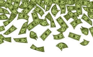 banknotes rain vector - money falling