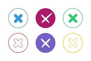 Colorful Multiplication Icon Set vector