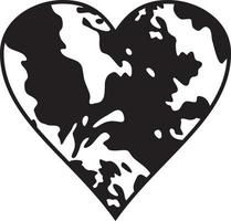 Cow Spots Heart vector