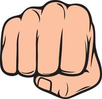 human hand punching vector