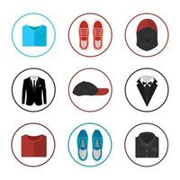 Colorful Clothes Icon Set vector