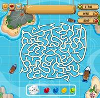 Maze puzzle game activity for children vector