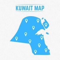 Kuwait Simple Map With Map Icons vector