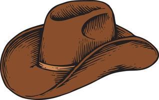 cowboy hat - vintage engraved vector