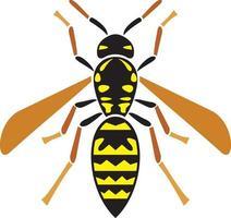 icono de insecto avispa vector