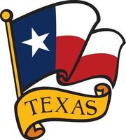 bandera de texas vector